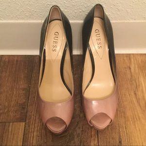 Guess peep toe pumps